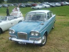Humber Sceptre (Bennydorm) Tags: car cars auto autos automobile motor vehicle retro vintage motorshow leightonhall england britain lancashire humber rootes blue bleu blau twotone