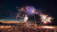 Fireworks at the Pier (m.cjo Fotografie - Martin Rakelmann) Tags: feuerwerk fireworks sellin seebrcke pier sea bridge seabridge sunset mcjo raketen mnchgut ostsee baltic