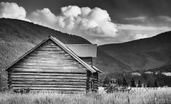 Old Bones (ihikesandiego) Tags: bozeman montana old barn black white