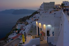 Lovely evening in Oia (somabiswas) Tags: greece oia santorini evening lights sea aegean