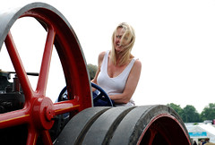 The engine driver (Les Pretty Pretty) Tags: blonde longblondhair enginedriver tractionengine cheshiregirl cheshirewoman sosexy maturelooker maturewoman strongbreasts curvybreasts whitetshirt dirtytshirt dirtonbreasts prettyeyes wheel bigwheel tractionenginewheel steeringwheel drivewheel cleavage outdoor steamrally steamingandarolling