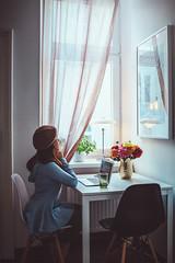 Message Personnel. (www.juliadavilalampe.com) Tags: home austria romantic love selfie selfportrait lamp blue female flowers indoors sterreich vienna window