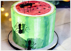 Watermelon and Ant Cake (swanksalot) Tags: wickerpark cake ant watermelon chicago bakery alliancebakery division tweeted