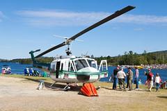 Maine Forest Service Bell UH-1H N955MF (jbp274) Tags: greenville greenvilleseaplaneflyin mooseheadlake 52b flyin helicopter maineforestservice bell uh1 bell205 iroquois huey