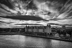 Havnelageret (Ioannis Ioannou Photography) Tags: lines street scandinavia clouds sky sea norway havnelageret seascape oslo northsea ioannisioannouphotography travel glass opera monochrome architecture oslooperahouse black house photography white bw blackwhite blackandwhite operahusetoslo oslohavnelager