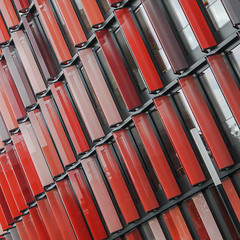 facade (morbs06) Tags: cologne cologneovaloffices sauerbruchhutton abstract architecture building cladding colour detail facade lines louvers office pattern square stripes windows kln