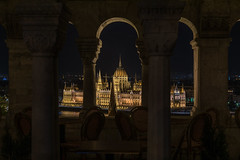 Parliament from Fisherman's Bastion (lncgriffin) Tags: budapest hungary magyarorszg europe europa parliament fishermansbastion architecture danuberiver longexposure nightphotography travel nikon d750 nikkor 24120mmf4gvr