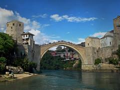 Mostar, The Old Bridge (Jocelyn777) Tags: bosnia mostar bridges rivers historictowns travel textured
