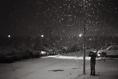 And so the year begins (Dalla*) Tags: winter boy white snow black cars newspaper kid shadows child headlights reykjavik suburbs snowing reykjavík 2015 newbeginnings wwwdallais