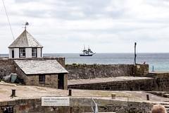 Classic Sailing Ship cruises outside Charlestown. (doublejeopardy) Tags: england unitedkingdom saintaustell