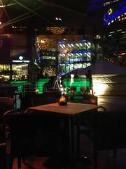 reflections (Bettina Hermann) Tags: light berlin bar night reflections outside restaurant licht january potsdamerplatz sonycenter januar reflexionen nachts 2015 drausen