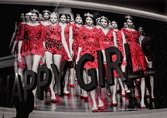 happy  girls  on red catwalk  (dedicated) (mare_maris (very slow)) Tags: girls red blackandwhite white black industry female walking poster logo greek happy sadness design glamour shiny dress legs image market stage letters models decoration streetphotography bleach posing style mini explore greece desaturation saturation redlipstick lipstick textiles satin decorate sorrow runway redshoes catwalk skirts placard windowshop thelook happygirls putup  justred decolorize womensclothes fashionworld  womensbody  runwaygirls nikond5100 maremaris aposterwithbeautifulrunwaygirlsisdecoratingthewallofashopcalledhappygirls