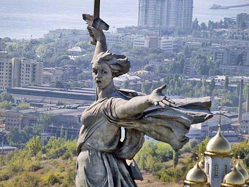 Mother Russia Statue, Volgograd (i.e. Stalingrad), From FlickrPhotos
