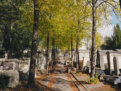 Pre Lachaise Cemetery (aridleyphotography.com) Tags: travel autumn paris france fall cemetery digital october europe olympus dslr perelachaise iledefrance cimetiere 2014 vsco vscofilm olympusomd olympusomdem10 perlachaisecemetery