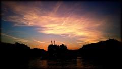 The Rhône at dusk, Geneva, Switzerland (Wagsy Wheeler) Tags: sunset silhouette river switzerland geneva geneve dusk rhône lakegeneva rhone lacleman suiss