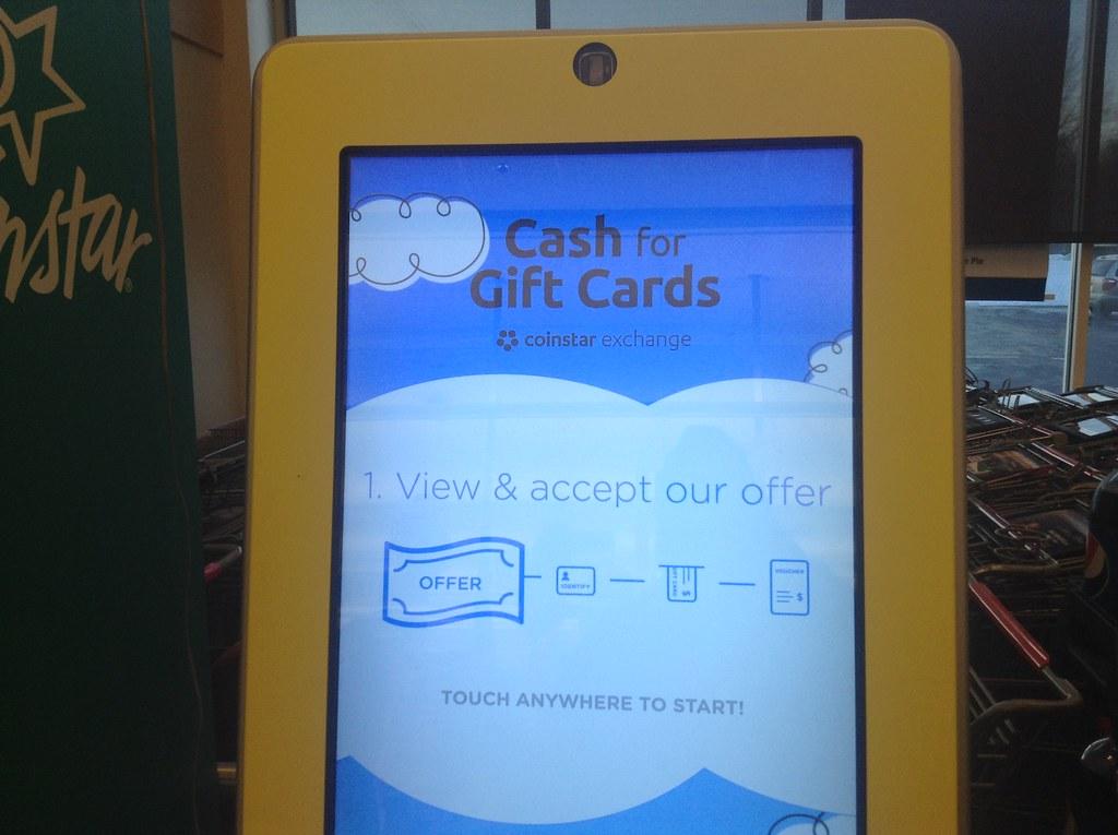 gift card exchange machine safeway