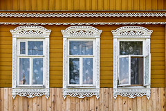 Typically decorated wooden window frames in a local house, Suzdal, Russia (inchiki tour) Tags: travel window architecture fairytale photo wooden europe russia decoration frame  suzdal 2014 goldenring