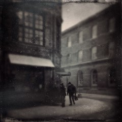Ferrotype 1858 (Catarina_Carlander) Tags: street city winter people urban postprocessed art vintage square dance colorful arty candid grunge grain creative streetphotography scratches oldschool retro tintype streetphoto humans tintypes iphone artphoto mobileart grittiness handyphoto repix betatesting mobilephotography iphoneography hipstamatic instagram iphone4s lowylens ctypeplatefilm ipadair visualartography realtymanipulated stackables3beta stackackablesapp