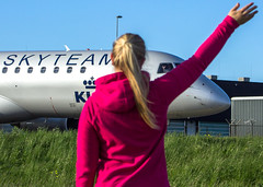 "The ever so friendly crew of KLM waving back to my girlfriend • <a style=""font-size:0.8em;"" href=""http://www.flickr.com/photos/125767964@N08/16034598608/"" target=""_blank"">View on Flickr</a>"