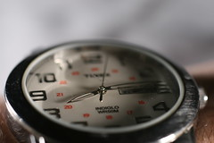 Just a Second (FilmandFocusPhoto) Tags: white macro metal canon silver 50mm watch sigma jewelry numbers timex wristwatch seconds todayspic macrophotography macrounlimited macrodreams