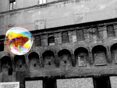 My dream fly away... (sigurshoot) Tags: city bologna città bubblesoap piazzadelnettuno bolladisapone