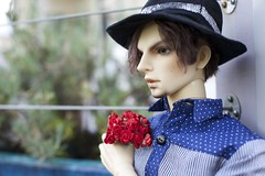 Day Dream - Impldoll Gnaeus (zoziebrown) Tags: flowers asian august romantic bjd 13 abjd balljointeddoll dollphotography impldoll impldollgnaeus