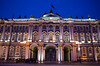 The State Hermitage Museum - St Petersburg, Rusia (nicoworldtour) Tags: museum stpetersburg empire bluehour hermitage rusia