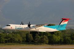 LX-LGG DHC-8-402Q Luxair (pslg05896) Tags: geneva dash8 luxair gva lsgg dhc8 ebace lxlgg