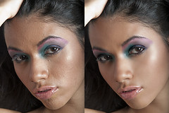 Before and After (Malmeansbad.Onplanetclaire) Tags: photoshop skin makeup adobe editing beforeandafter cosmetics retouch retouching brunettes edit ccs cosmetic photoretouching makeupart skinperfecting