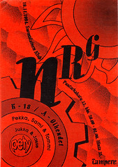 NRG, Suomalainen Klubi, 1994 (Sakari Karipuro) Tags: house history suomi finland flyer scan scanned techno rave flyers tampere nineties 1990s oldflyers