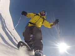 Telemark Skiing (pfederi) Tags: sun snow skiing davos telemark pischa
