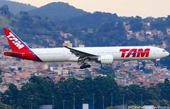 TAM - PT-MUA - Boeing 777-32W(ER) (Matheus Obst) Tags: brazil brasil plane airplane airport jet aeroporto landing lan boeing paulo sao tam guarulhos gru cumbica latam pouso sbgr ptmua 77732wer
