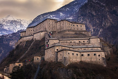 """""""Fort di Bard"""" (Theo.Triadafillos) Tags: winter italy snow mountains alps building fort di bard fortress aosta"""
