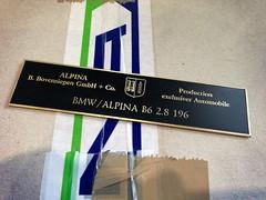 BMW / ALPINA B6 2.8 196 (bmw_alpina_teile) Tags: 2002 bavaria sticker alpina plate turbo dash 25 bmw b2 23 vin 28 decal e3 m3 a4 35 27 c2 console 325i e6 b7 csl e30 neue klasse aufkleber e9 320 nk b6s tii e34 c1 e10 b12 e36 biturbo e20 e32 b3 b9 e28 323i b6 320i e39 b11 b10 e21 e12 e23 e24 e31 b8 typenschild a4s bovensiepen