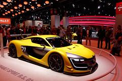Renault Sport R.S. 01 (GtCh) Tags: show red black paris car sport yellow jaune rouge stand automobile noir expo sony renault exposition 01 salon motor concept rs dsc motorshow mondial 2014 rx100