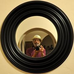 A buddhadog Selfie With His Nikon D90 -:- 4263 (buddhadog) Tags: circle squircle 700 sweeper 500x500 chinesehat cy2 challengeyouwinner photoshooter nikond90 a3b 4wins cyunanimous g2haiku buddhadogselfie 100vu 500vu dragonvirtuecap
