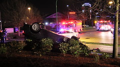 Overturned Vehicle on Still Creek Ave (bcfiretrucks) Tags: canada news fire bc crash accident police columbia canadian ambulance burnaby british rcmp incident firefighter paramedic department bfd rollover collision fd overturn