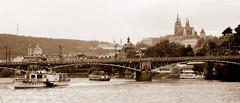 Old timey Prague (oobwoodman) Tags: cruise sepia river prague cathedral prag praha tschechien tschechischerepublik hradschin czechrepublic fluss vltava stvituscathedral rpubliquetchque hradany croisire kathedral moldau kreuzfahrt esko eskrepublika tchquie echvmost