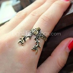 Счастливая звезда женской бронзы год сбора винограда антилопы кольцо