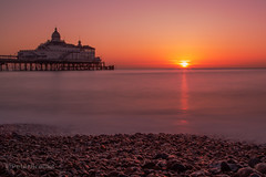 Eastbourne sunrise (PeterBrooksPhotography) Tags: uk longexposure winter sea sun blur beach sunrise landscape sussex pier eastbourne eastsussex
