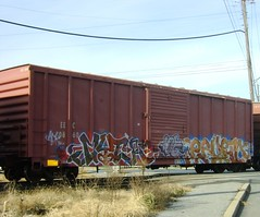 Myth Erupto (OG Spliff) Tags: train graffiti freight myth erupto benching