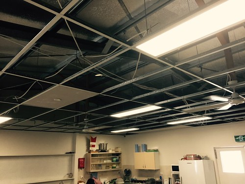 LED light panels and fans installed at carina workshop.