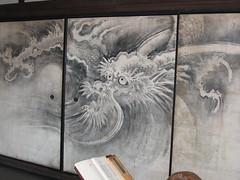 Painted walls at Daitokuji Temple