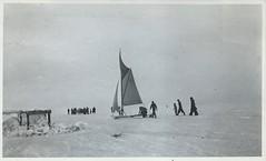 ostsee-dk-gefroren-1940? (Pappkameradin) Tags: ice vintage 1940 balticsea eis dnemark danmark ostsee zugefroren eissegler frozensolid iceyachting