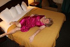 new109098-IMG_0802t (Misscherieamor) Tags: tv feminine cd motel tgirl transgender mature sissy tranny transvestite crossdress ts gurl tg travestis travesti travestie m2f onbed xdresser tgurl satinpleatdress elgantgown
