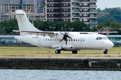 Danish Air Transport (DAT) - ATR 42-500 - OY-RUO  London City Airport (paulstevenchalmers) Tags: london londoncity lcy airport