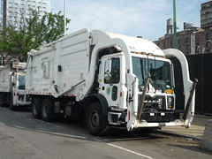 Mack TerraPro (NYC Department of Sanitation) (JLaw45) Tags: road street new york city nyc urban usa white apple public america truck work island town big garbage university village state metro outdoor manhattan united low duty greenwich north collection midtown domestic lorry american commercial area vehicle nyu government environment service metropolis states waste refuse avenue heavy mack northeast department mid metropolitan entry sanitation leu cabover environtmental terrapro lowentry