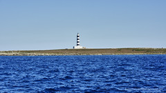 Striped Lighthouse (Sailor Alex) Tags: sailing windedvoyage yacht sailingvessel sail minorca balearic spain island boating sailboat travel discovery