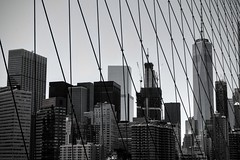 New York (benjalecaros) Tags: nyc skyline manhattan brooklyn bridge canon 400d one world trade center wtc