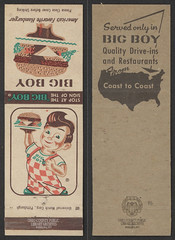 "Matchbook: ""Big Boy"" (Ohio County Public Library) Tags: wheelingwv wheeling elbys bigboy matchbooks matches"
